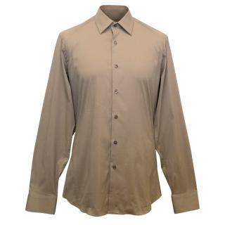 Prada Men's Camel Shirt
