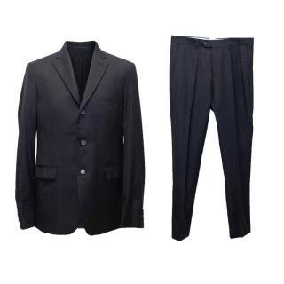 Acne Men's Navy Blue Pinpoint Suit