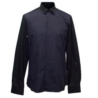Givenchy Men's Navy and Black Shirt with Breast Pocket