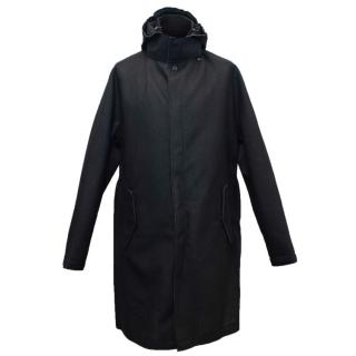 Lanvin Men's Black Hooded Coat