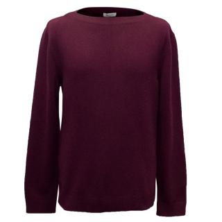 Valentino Men's Burgundy Cashmere Knitted Jumper