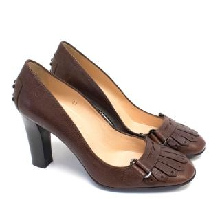 Tod's Jodie Brown Leather Pumps