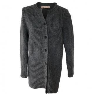 Marni Long Grey Cardigan
