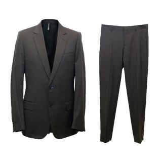 Dior Men's Brown Cashmere and Wool Blend Suit