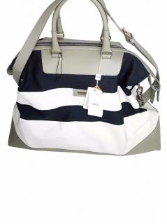 Armani Collezioni Blue and White Bag