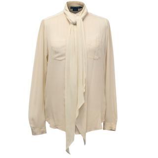 Ralph Lauren Silk Cream Blouse