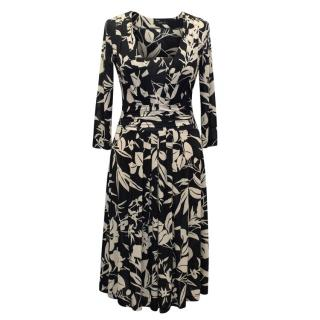 Etro Black and White Printed Dress