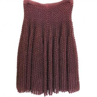 Alaia Palladium Bordeaux Skirt