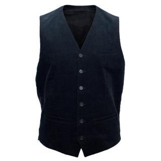 The Kooples Men's Navy Corduroy Waistcoat