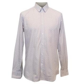 Fendi Men's Cream Patterned Shirt