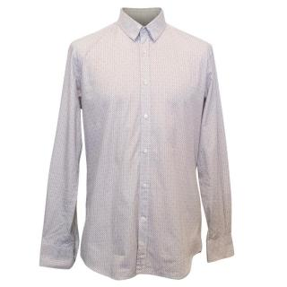 Fendi Men's Cream Patterned Shirt