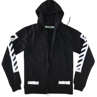 Off-White men's zipped hoodie sweater