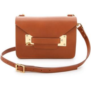 Sophie Hulme Mini Milne Crossbody Bag in Tan