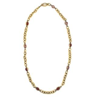 YSL Gold Multicolour Beaded Necklace