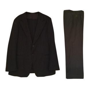 Armani Collezioni Black Pin Stripe Two Piece Suit