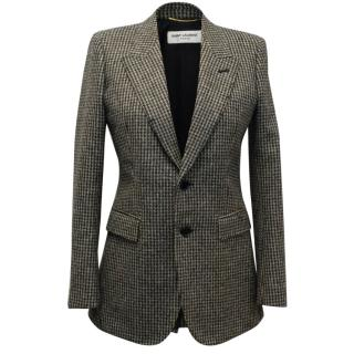 Saint Laurent Dog Tooth Check Blazer