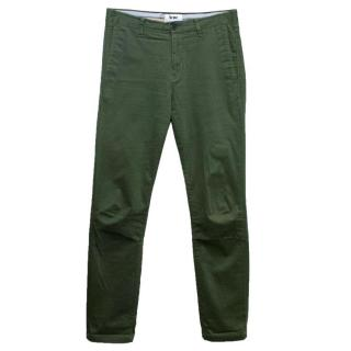 Acne Men's Green Cotton Trousers