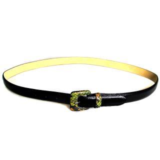 Longchamp Calf Leather Belt