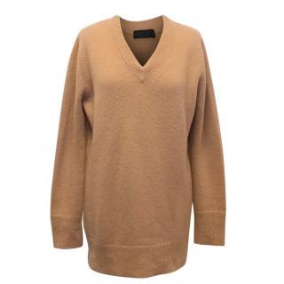 The Row Manta' Salmon Cashmere-Silk Sweater