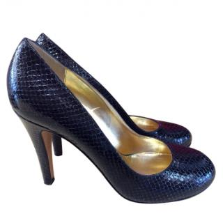 DKNY Faux Snakeskin Court Shoes