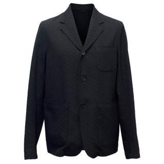 Marni Men's Black Jacquard Wool Blazer