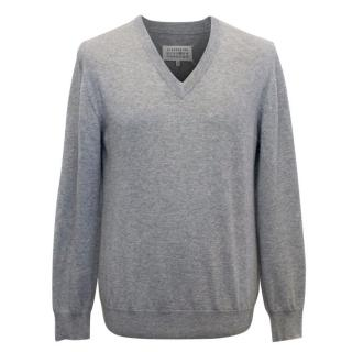 Maison Martin Margiela Men's Grey Wool Jumper