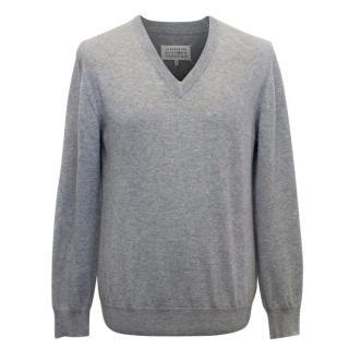Maison Martin Margiela Men's Grey Wool Jumper