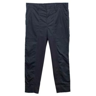 3.1 Phillip Lim Men's Navy Trousers with Jersey Inserts