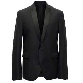 Costume National Homme Black Blazer with Silk Lapel