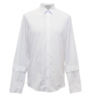 Balenciaga Men's White Long-Sleeved Shirt
