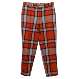Vivienne Westwood Red Checkered Trousers