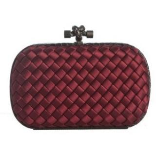 Bottega Veneta Classic Knot Clutch in Dark Red