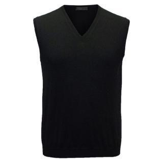 Prada Men's Black Vest