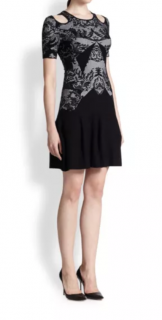 Alexander McQueen McQ Knit Cold Shoulder Dress
