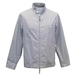 Thom Grey Men's Lightweight Blue Cotton Jacket