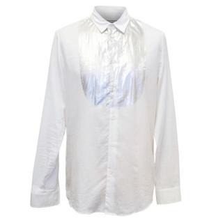 Maison Martin Margiela Men's White Shirt with Silver Detail