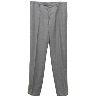 Lanvin Men's Light Grey Wool Trousers