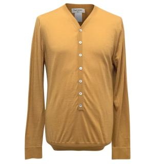 Paul & Joe Men's Mustard Wool Pullover