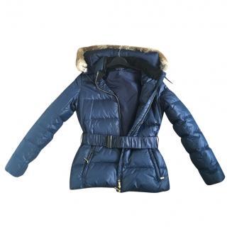 Emporio Armani Rabbit Fur Hood Puffer Jacket