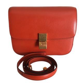 Celine Medium Box Bag in Orange