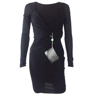Emilio Pucci Black Wrap Dress