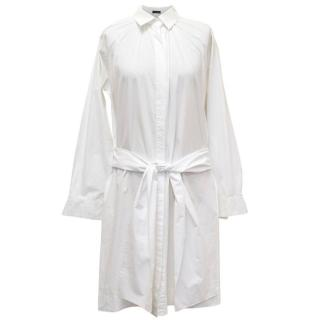 Joseph White Long Sleeved Shirt Dress