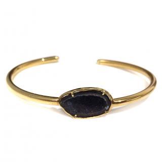 Kimberly McDonald 18K Gold and Dark Geode Cuff