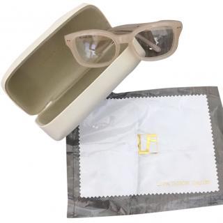 Linda Farrow Pale Pink Sunglasses