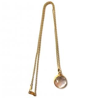 Caroline Ellen 18K Yellow Gold Moonstone Pendant Necklace
