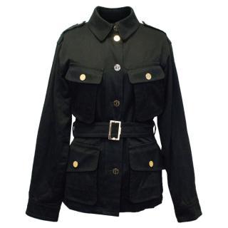 Yves Saint Laurent Black Cotton Jacket