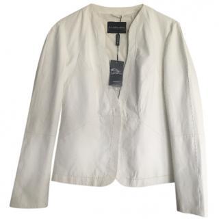 White Emporio Armani Lamb's Leather Blazer