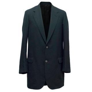Lanvin Men's Long Navy Blazer