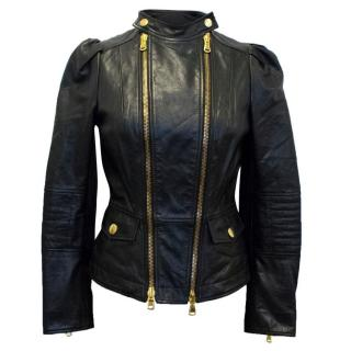 Moschino Cheap and Chic Black Leather Jacket