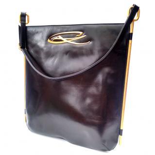 Christian Lacroix Vintage Black Leather Shoulder Bag